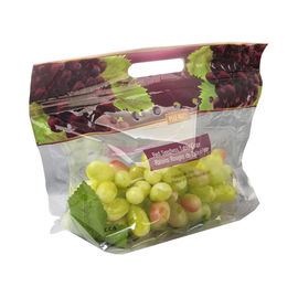 Eco Reusable Fresh Fruit Bags Micro Perforated Packing Plastic Material Flat Bottom